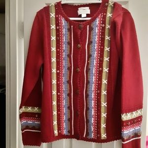 BEAUTIFUL! Hand embroidered sweater